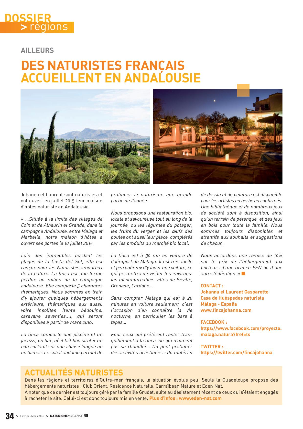 article Naturisme Magazine