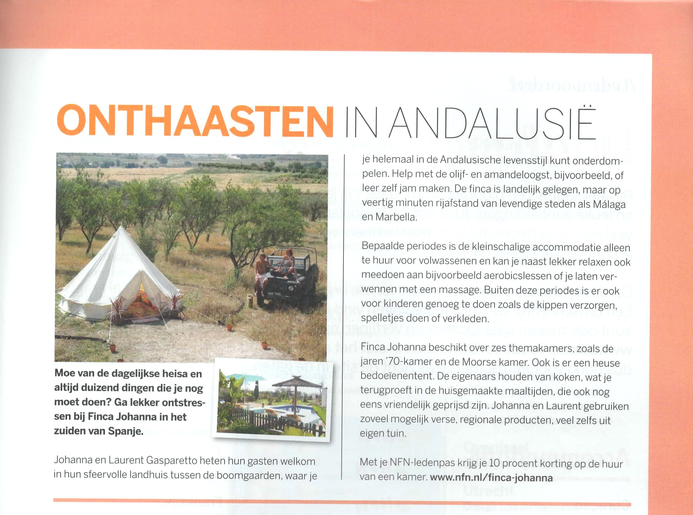 Article of the Dutch Naturist Federation magazine
