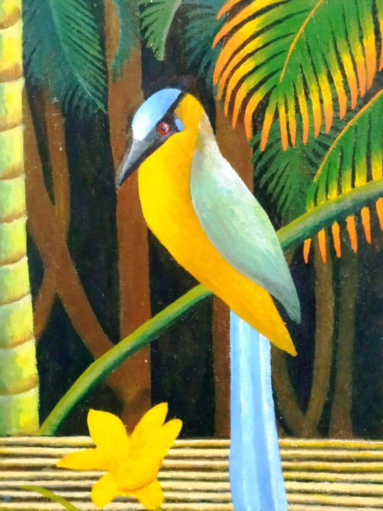 peinture d'un oiseau barranquero