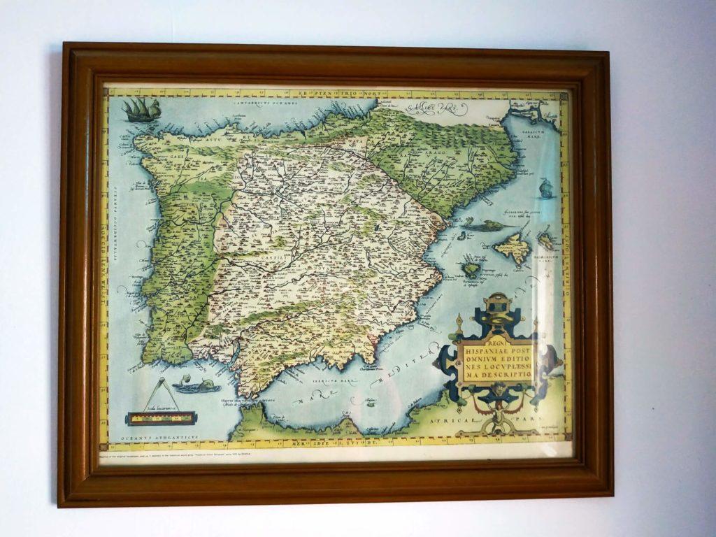 Chambre des Merveilles carte ancienne péninsule ibérique