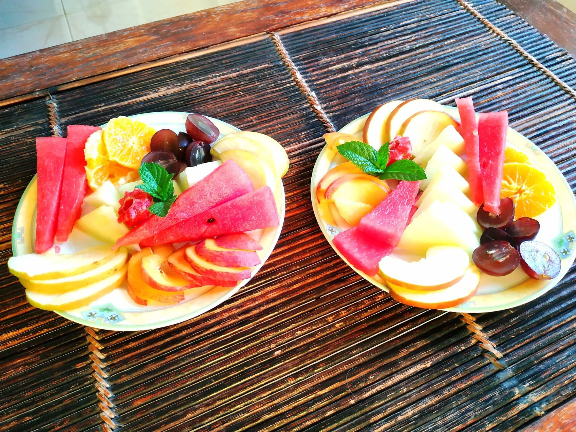 Assiettes de fruits