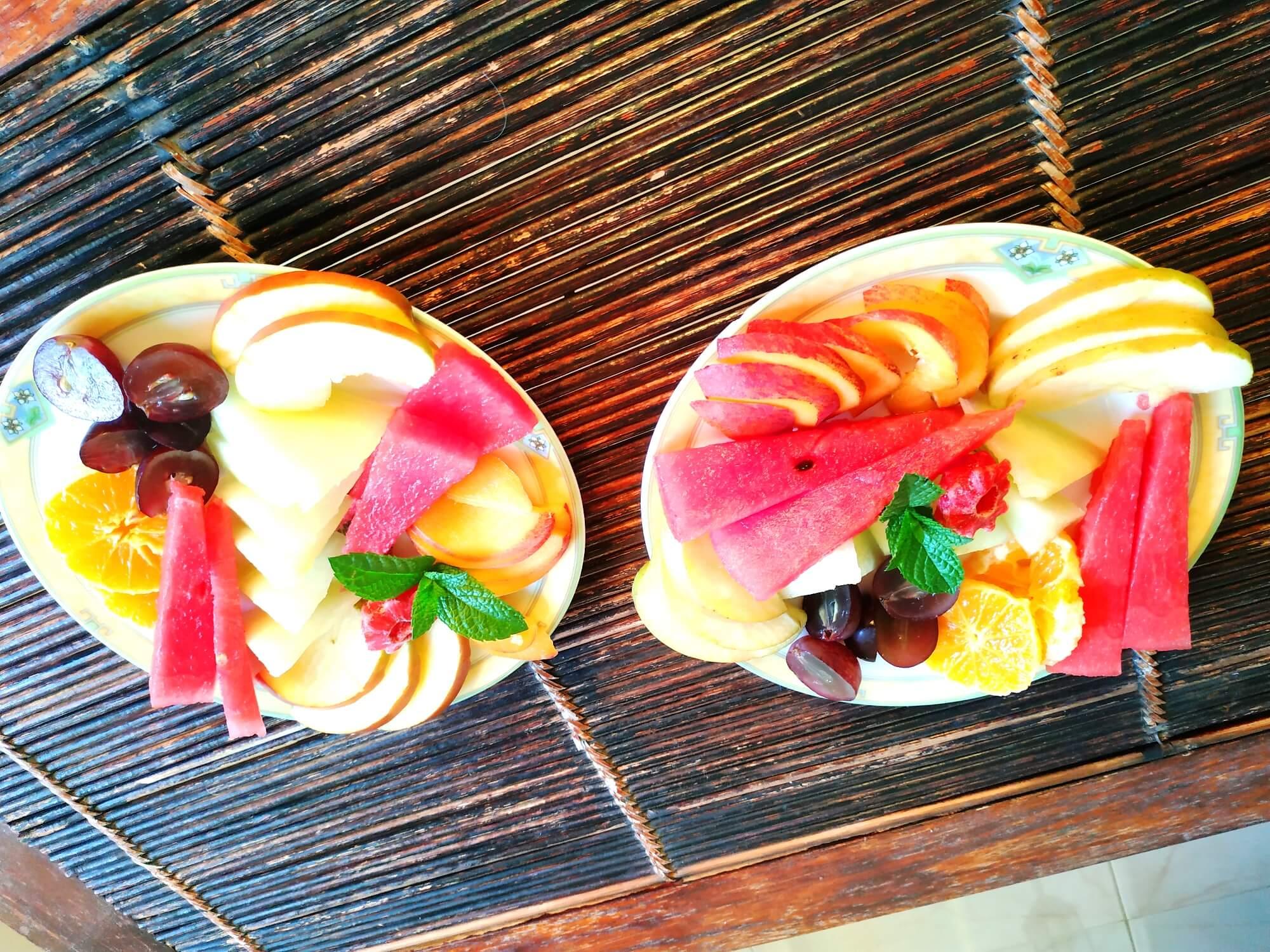platos de frutas