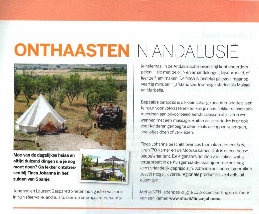Article en néerlandais paru dans UIT - Pays-Bas, juillet 2016